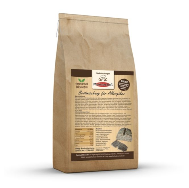 Teff Brotmischung besonders für Allergiker (glutenfrei und hefefrei) 500Gramm