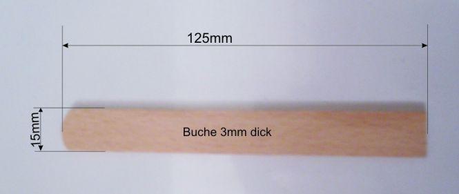 Holzstiele für Waffel am Stiel flach 3mm