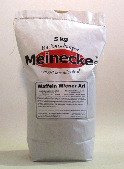 Waffel-Backmischung Wiener Art 5Kg